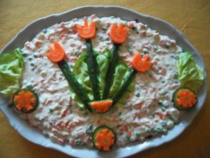 Tavaszt váró francia saláta