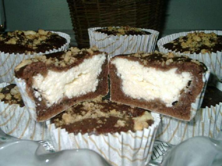 Csokoládés-túrós muffin