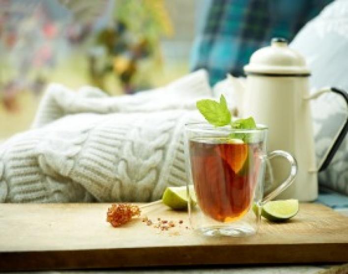 Menta-lime tea melegen