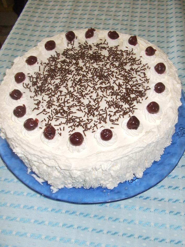 Gluténmentes Feketeerdő torta