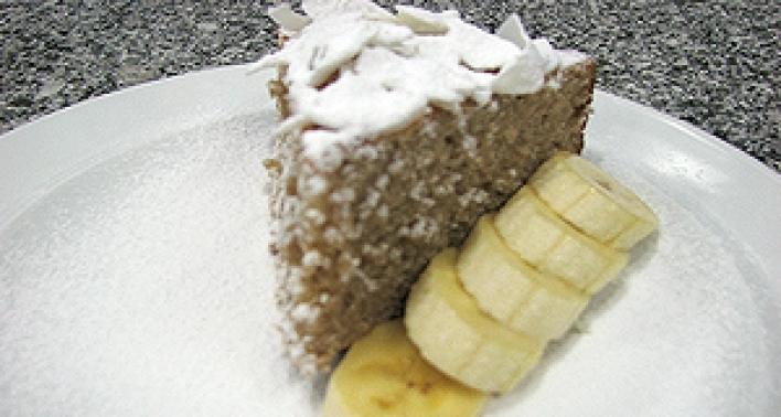 Banános kókusztorta