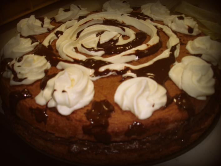 Tejcsokis torta