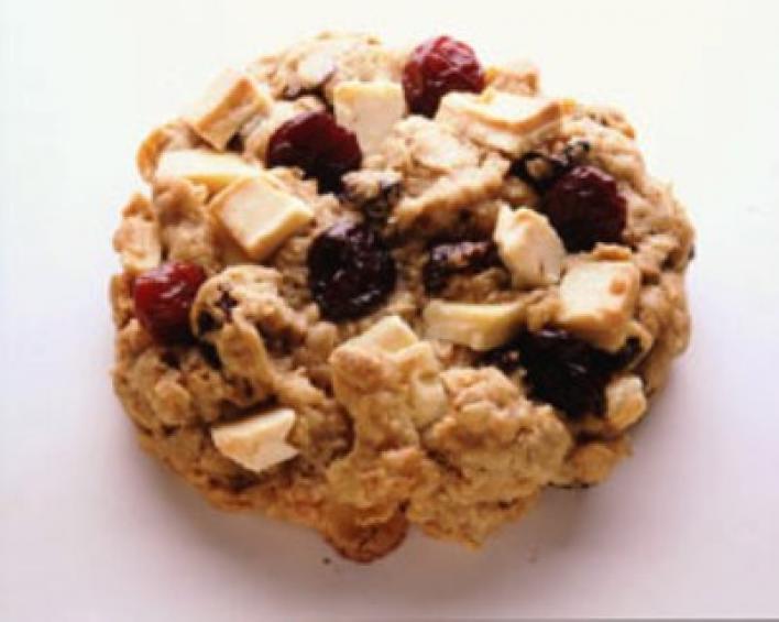 Cseresznyés zabpelyhes cookie