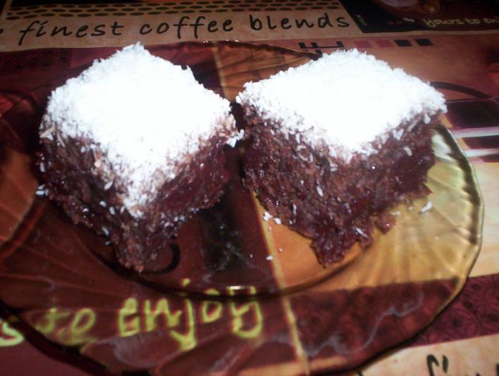 Kókuszos, meggyes kocka (tojás nélkül)