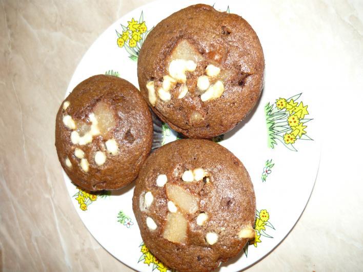 Körtés, fehércsokis muffin