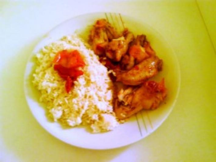 Lecsós csirke rizzsel