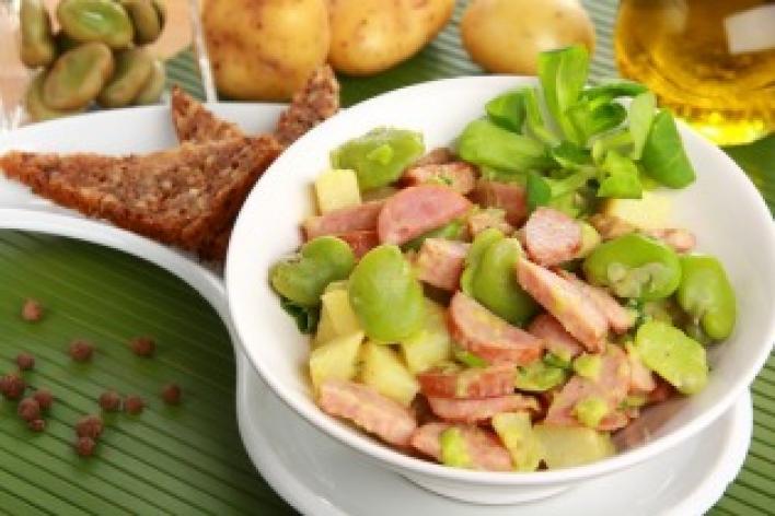 Lóbab saláta