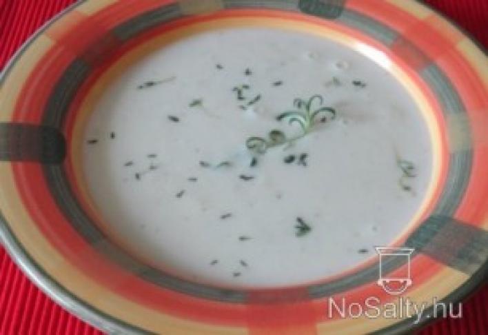 fokhagymakrém leves