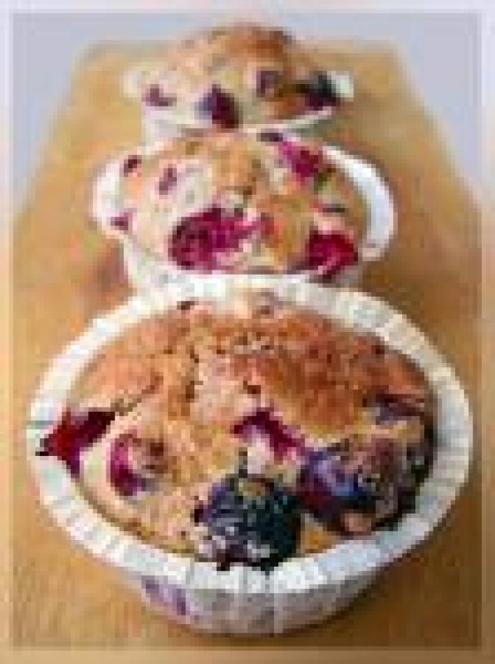 Áfonyás muffin