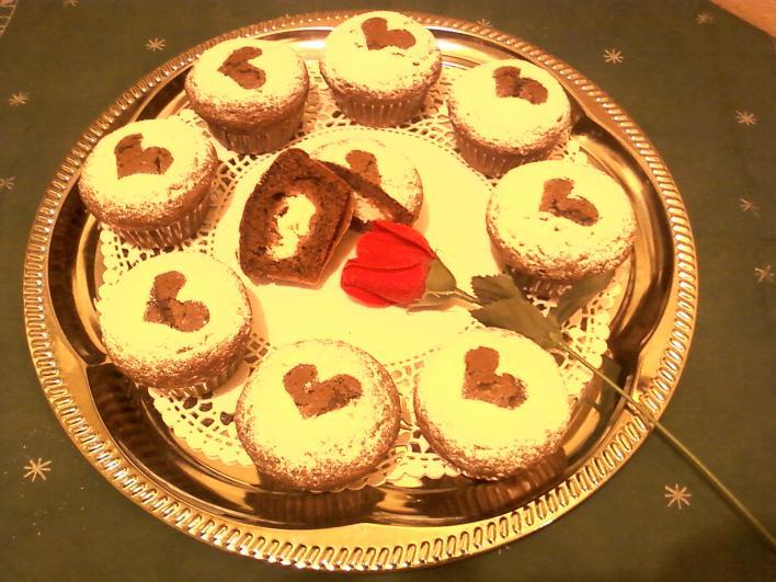Túrós-kakaós muffin