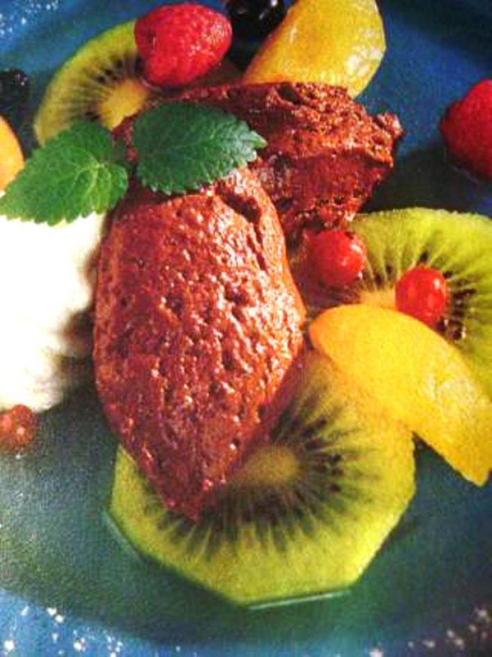 Csokihab gyümölcsökkel