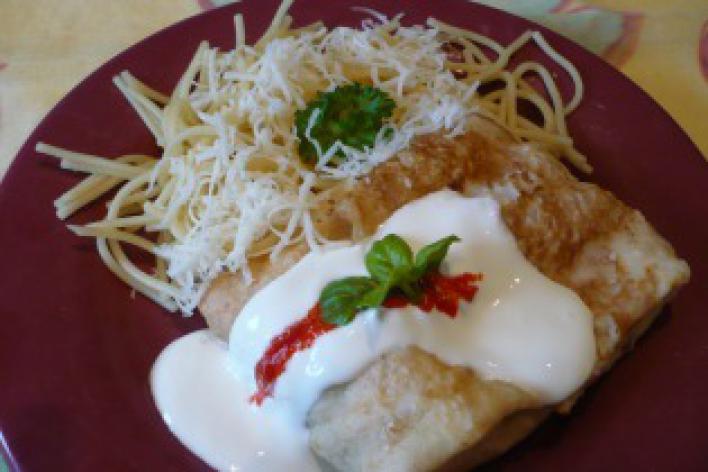 Bolognai batyu sajttal