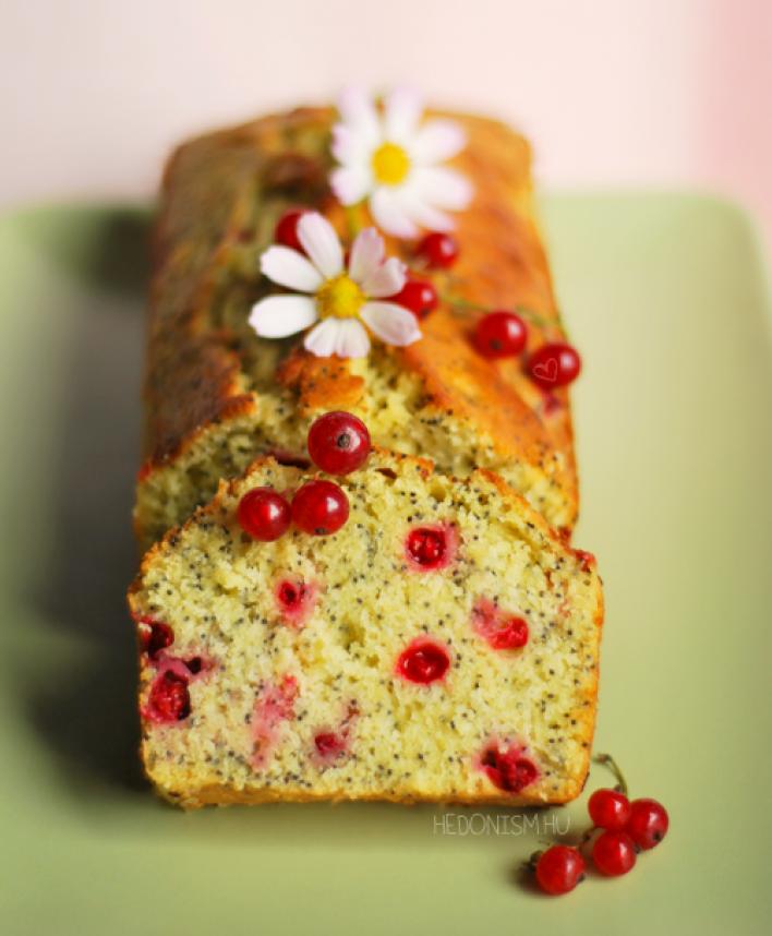 Ribizlis, mákos sütemény teadélutánra