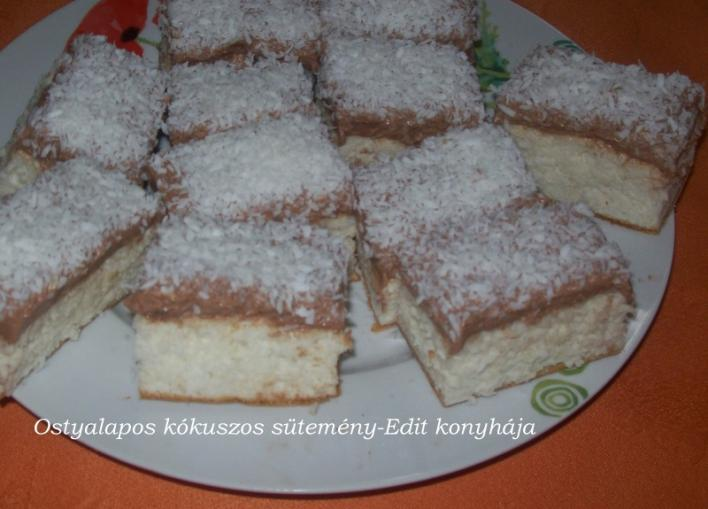 Ostyalapos kókuszos sütemény