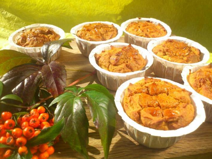 Juharszirupos-sütőtökös muffin tojás nélkül