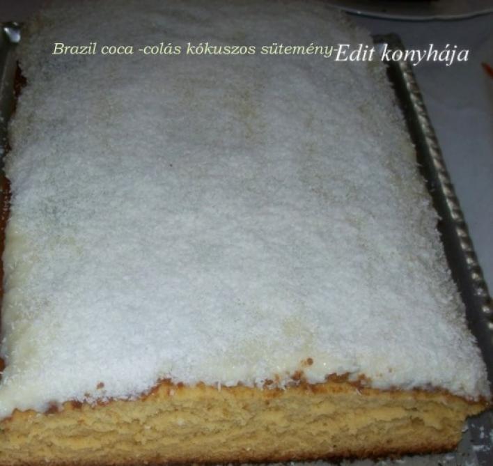 Brazil colás, kókuszos sütemény