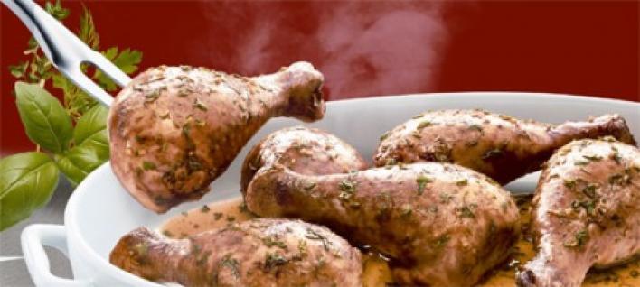 Zöldfűszeres csirkesült