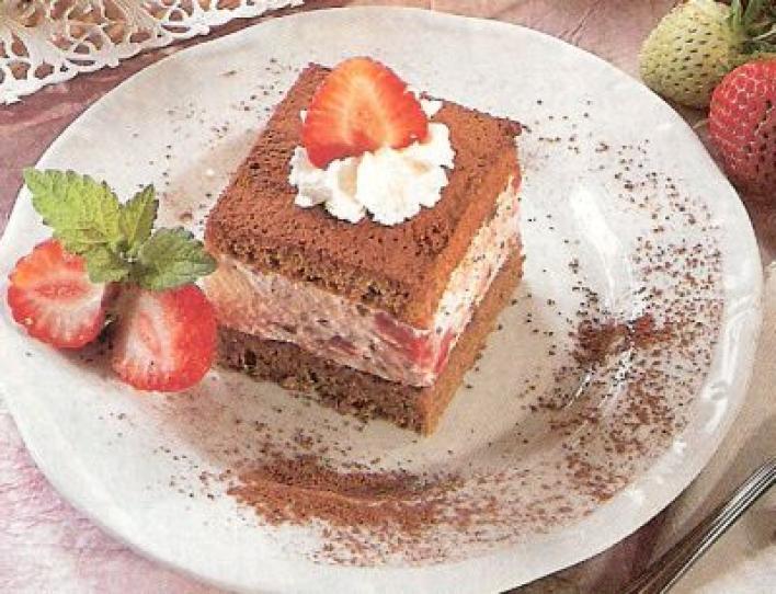 Epres-csokoládés kocka