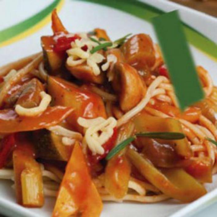 Vegetáriánus bolognai spagetti