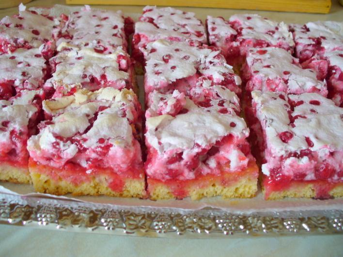 Ribizlis, habos sütemény