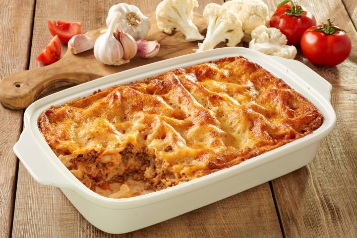 Karfiolos lasagne