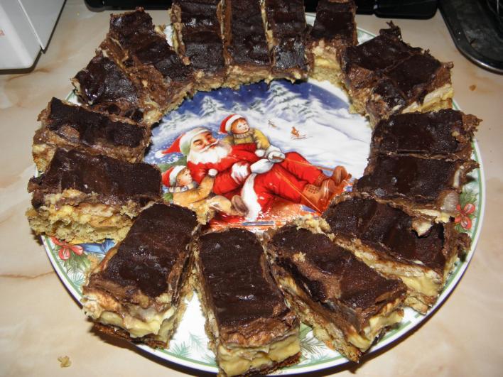 Vaníliás-kakaós szelet