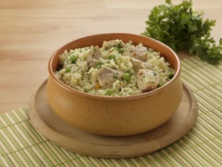 Zöldborsós rizses hús