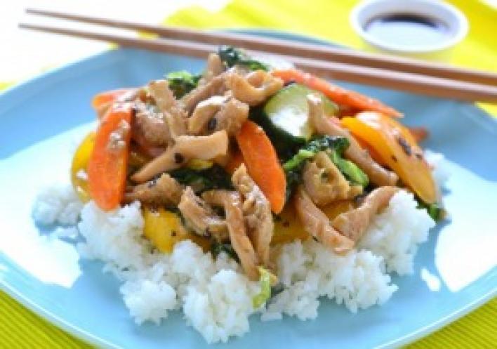 Kínai csípős pacal ropogós zöldségekkel