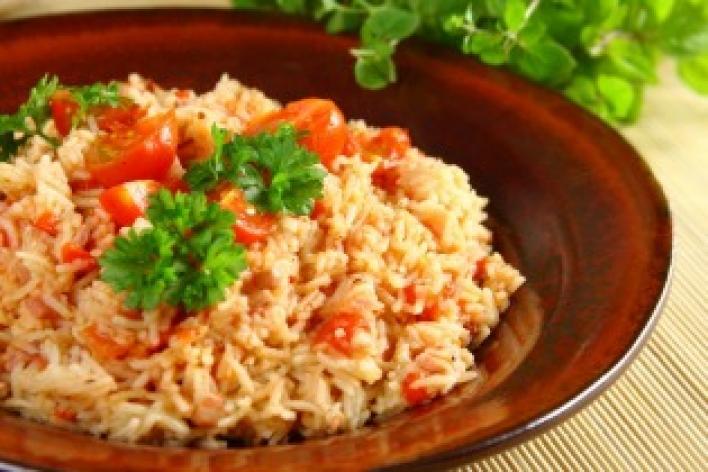 Charlestoni paradicsomos rizs