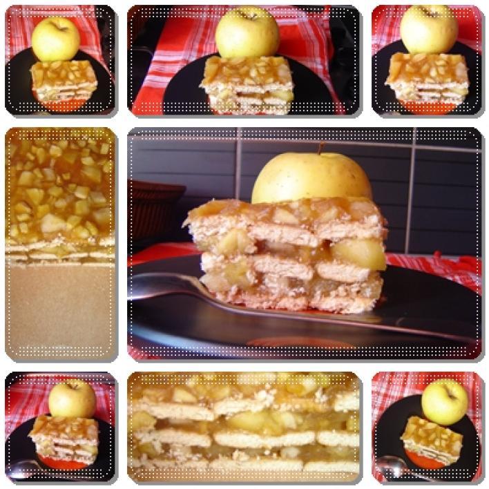 Almás, kekszes süti