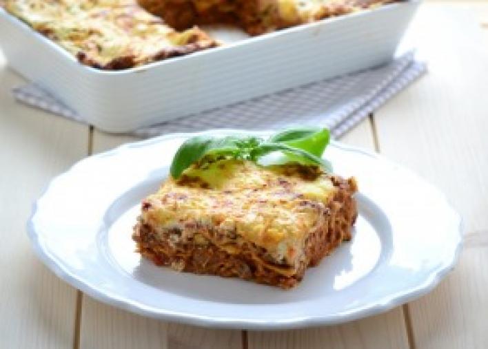 Csirkemájas lasagne