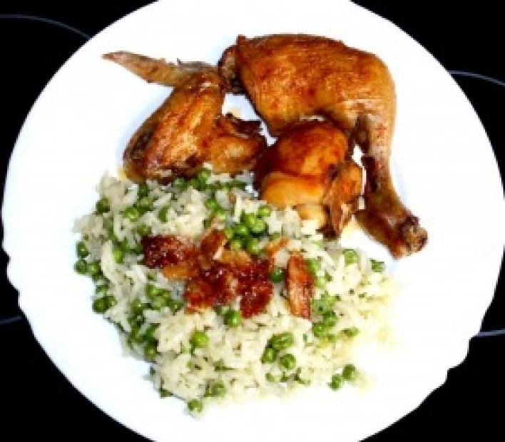 Zacskóban sült omlós csirke
