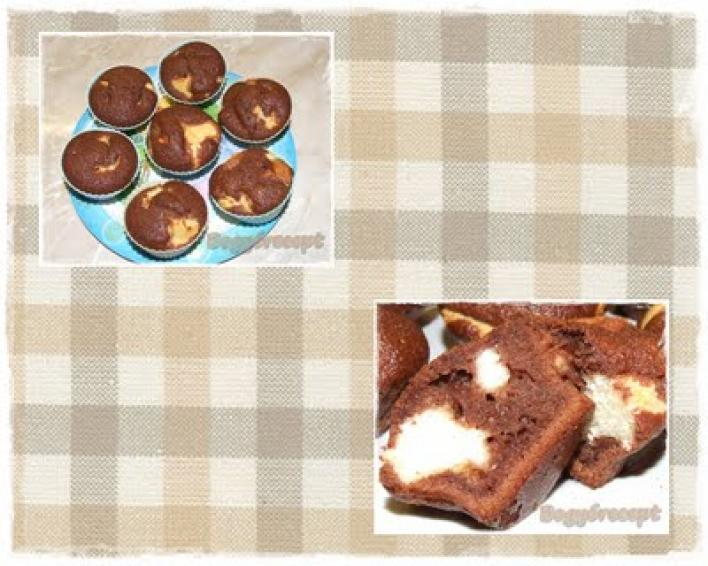 Foltos szelet muffin formában
