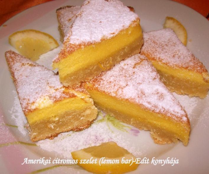 Amerikai citromos szelet (lemon bar)