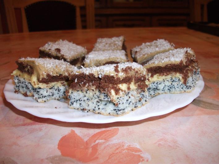 Mákos, kókuszos süti