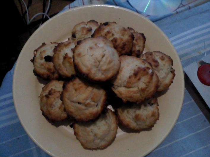Vöröfonyasáfonyás, túrós muffin