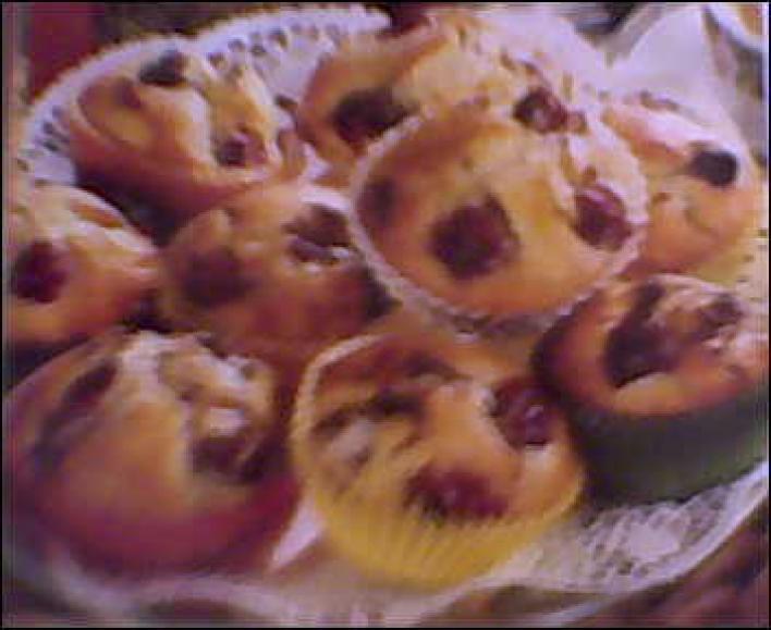 Bécsi cseresznyés muffin