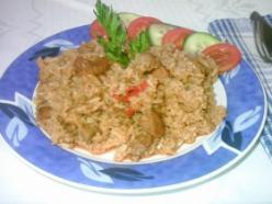 Pulykahúsos rizseshús