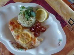 Citromos halfilé zöldcurrys rizzsel