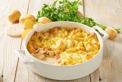 Halas egytál krumplival és hollandi mártással