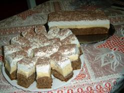 Diós-habos sütemény