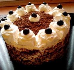 Feketeerdő torta xilittel