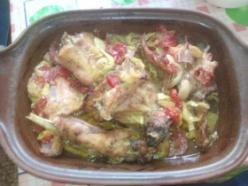 Pataki tálban sült nyúl zöldségekkel
