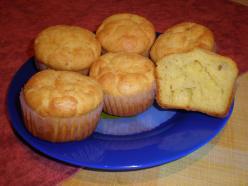 Sajtos, tejfölös muffin