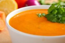 Sült padlizsán leves