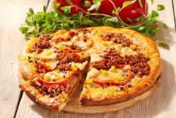Egyszerű chili con carne pizza