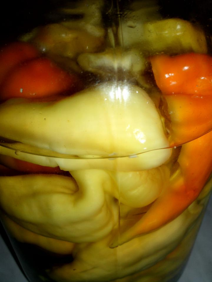 Ecetes-tormás paprika elkészítés 5. lépés képe