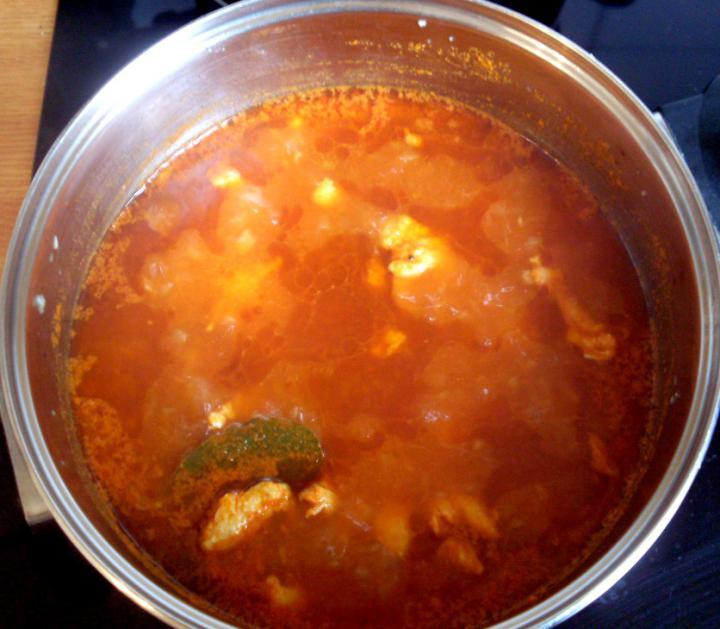 Tejszínes-csirkés zöldbab főzelék elkészítés 1. lépés képe