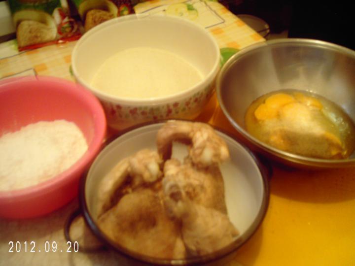 Rántott csirke és karfiol elkészítés 3. lépés képe