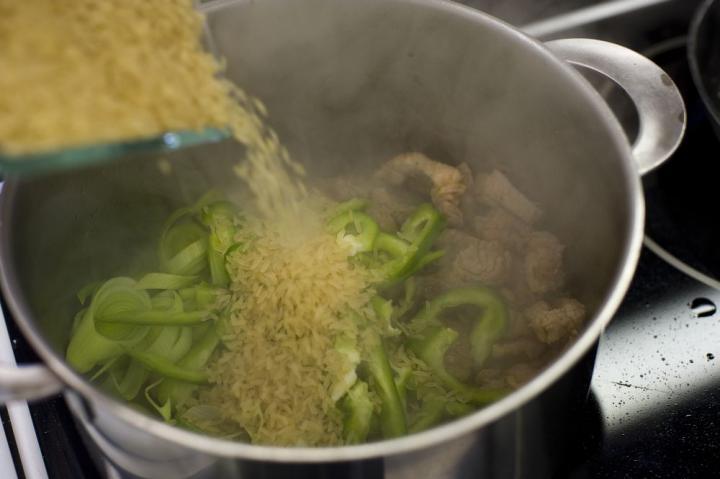 Tarjás zöldséges rizs elkészítés 3. lépés képe